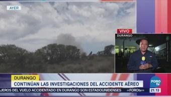 Continúan Investigaciones Accidente Avión Durango Avionazo