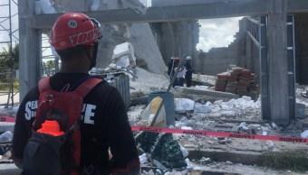 Derrumbe en Puerto Morelos deja al menos un muerto