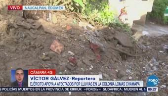 Deslave destruye casa en Naucalpan