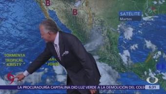 Despierta con Tiempo: Tormentas Ileana y Kristy y huracán John provocarán lluvias