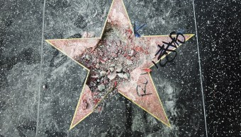 Destruir estrella de Trump en Hollywood fue un acto justo
