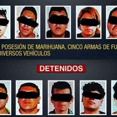 Detienen a 10 personas por posesión de drogas y armas en Coyoacán
