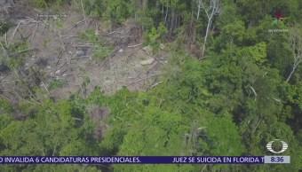 Dron monitorea a tribu de la Amazonía brasileña