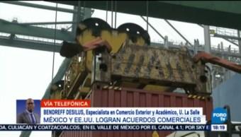 El acuerdo entre México y EU tranquiliza mercado Bendreff Desilus, especialista en comercio exterior, sería mejor un TLC trilateral, TLC trilateral