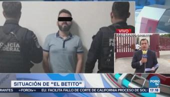 El Betito, vinculado a proceso por posesión de metanfetamina