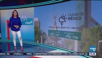 El Clima, A las Tres, Daniela Álvarez, [28-08-2018], El Clima 'A las Tres' con Daniela Álvarez [28-08-2018]