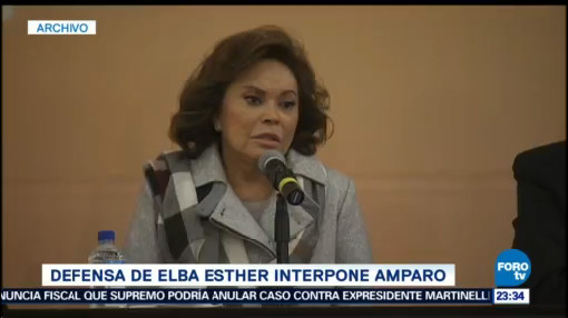 Elba Esther Gordillo solicita amparo posible aprehensión