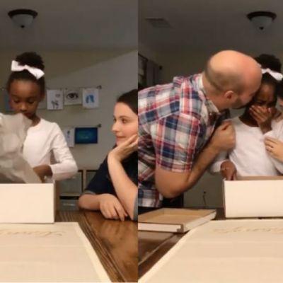 Video: El emotivo momento en el que una niña se entera que será adoptada
