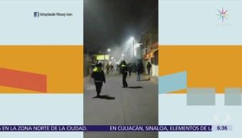 En Tultepec, habitantes se enfrentan a policías