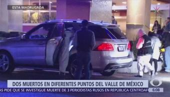 Encuentran dos muertos en diferentes puntos del Valle de México