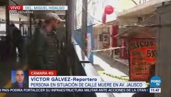 Encuentran un muerto en avenida Jalisco, colonia Tacubaya