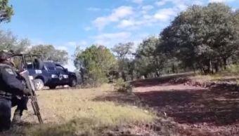 policias federales enfrentan delincuentes chihuahua muerto