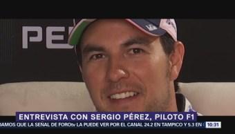 Entrevista con Sergio Pérez, piloto F1