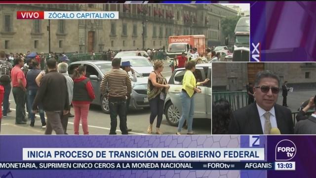 Equipos Amlo Peña Nieto Llegan Palacio Nacional Transición Andrés Manuel López Obrador Presidente Enrique Peña Nieto Iniciar El Proceso De Transición