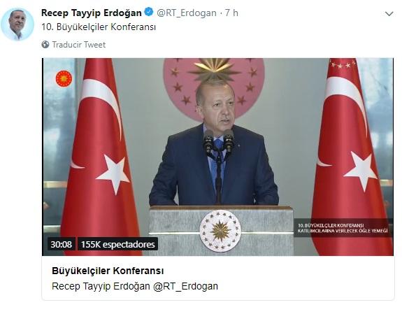 Erdogan: Estados Unidos apuñala por la espalda a Turquía