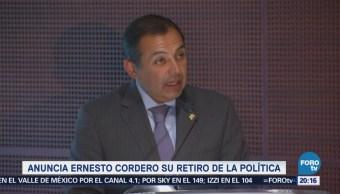 Ernesto Cordero se retira de la política