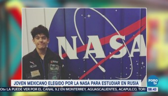 Joven mexicano elegido por NASA para estudiar en Rusia