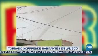 Extra Tornado sorprende habitantes en Jalisco