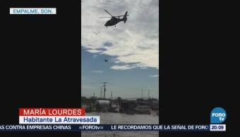 Familias tratan de recuperar sus pertenencias tras ruptura de represo en Sonora
