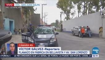 Flamazo en Iztapalapa provoca movilización de personal de emergencias