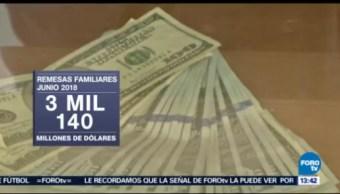 Flujo de remesas baja 0.48 en junio Banxico