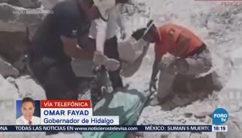Gobernador de Hidalgo señala que hay cinco víctimas