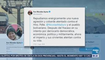 Gobiernos de otros países condenan atentado contra Maduro