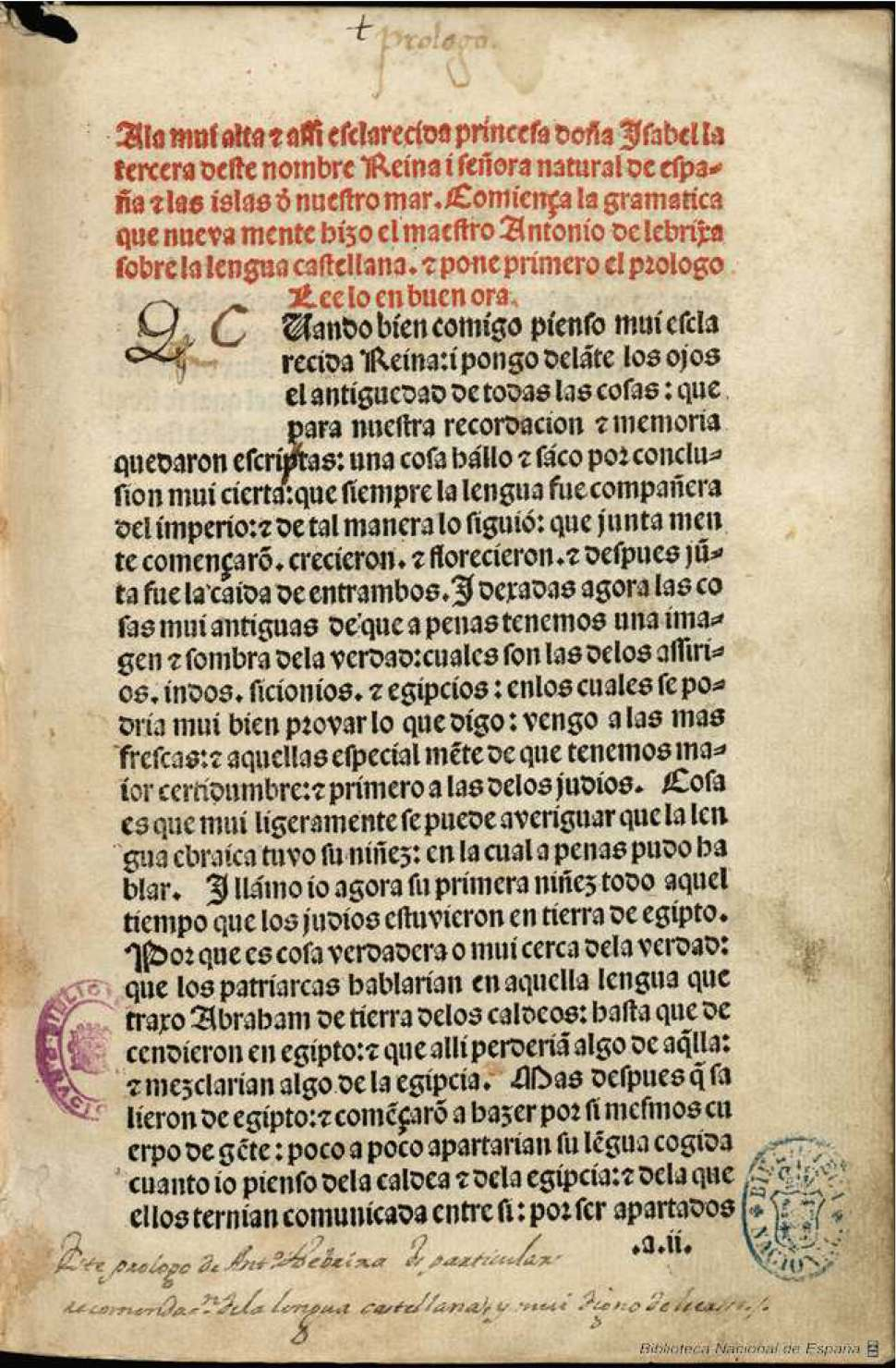 Gramatica_castellana_Nebrija_1492-español-politica
