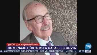 Homenaje Póstumo Rafael Segovia Profesor Colegio México