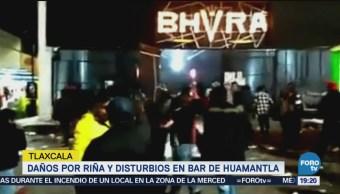 Daños Riña Disturbios Bar Huamantla Tlaxcala