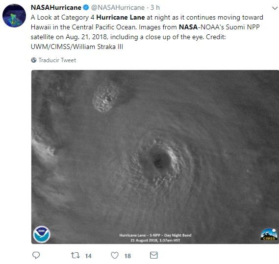 Se piensa que huracán 'Lane' impacte considerablemente a Hawai