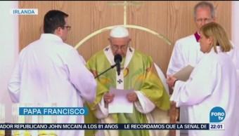 """Implora el Papa """"perdón"""" por víctimas de abuso en Irlanda"""