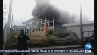 Incendio Subestación Cfe Cancún Quintana Roo