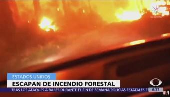 Incendio forestal atrapa a vacacionistas, lo grabaron todo