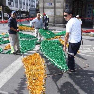 Preparan espectáculo de luces en mosaicos para festejar Independencia de México en CDMX