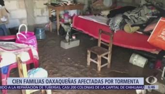 Inicia limpieza tras granizada en Huajuapan de León