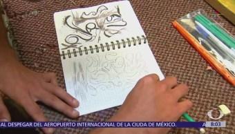 Adriana Guerra, psicóloga clínica, tanatóloga y especialista en desarrollo humano, explica cómo contribuyen los talleres de pintura a los reos del Reclusorio Norte