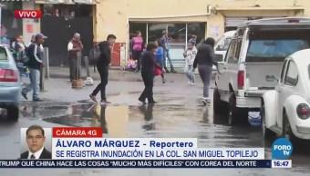Inundación en San Miguel Topilejo, Tlalpan
