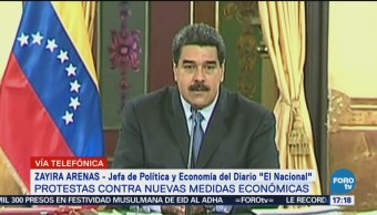Política Económica Venezuela Genera Incertidumbre Zayira Arenas, Jefa De Política Y Economía Del Diario El Nacional De Venezuela, Nicolás Maduro
