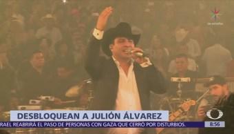 Julión Álvarez confirma fin del bloqueo por presunto lavado de dinero