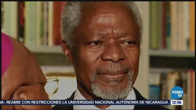 Kofi Annan, el hombre que trabajó para finalizar conflictos