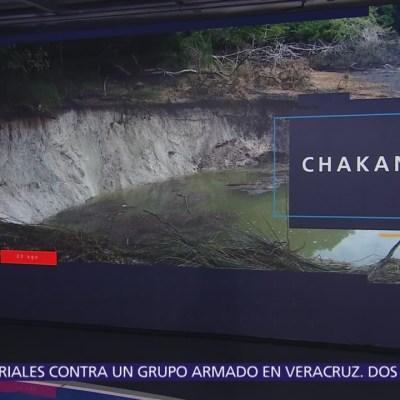 Laguna Chakanbakán de Quintana Roo pierde agua por socavones