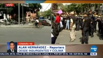 Manifestantes Cerraron Insurgentes Cruce Colima