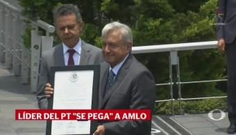 Líder PT Buscó Abordar AMLO Alberto Anaya