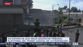 Llegan magistrados del TEPJF para analizar declaración de presidente electo