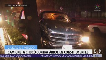 Lluvia causa accidentes vehiculares en la CDMX
