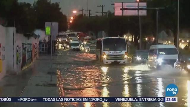 Lluvia Causa Afectaciones Parte Valle de México