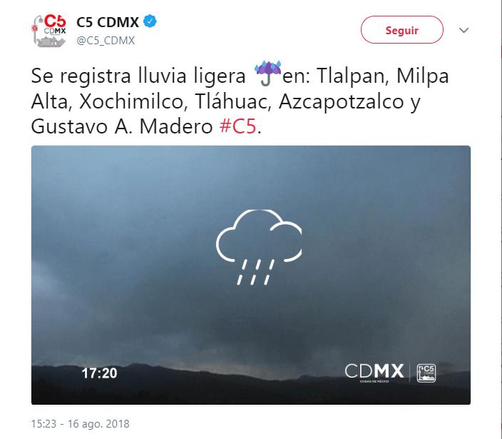 El clima hoy, 16 de agosto, en la Ciudad de México