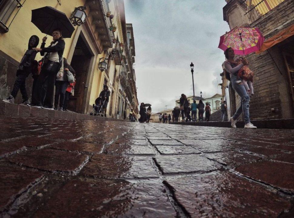 Lluvias afectan calles de Guanajuato por cuarto día consecutivo.