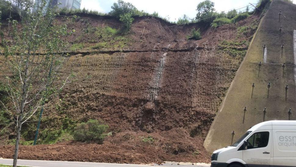 Lluvias provocan deslave en prolongación Vasco de Quiroga